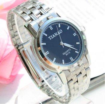 Men's White Steel Handwatch Luxury AUTOMATIC Watch Free Shipping