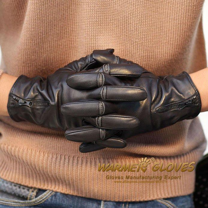 Long Leather Gloves For Men Winter Leather Gloves Men