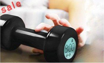 Free Shipping Dumbbell Alarm Clock Desk and Table Home Decor LED Clocks Projector Digital Clocks
