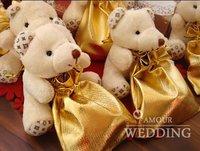 30 pcs/lot  Wedding Favors Candy Box Sweet Bag Gift Little Bear Unique Design Wedding Supplies Lovely Best Selling