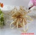 Free Shipping 200 pcs/lot  Wedding Favors Candy Box Sweet Bag Gift Gold Tooling Tulle Unique Design Wedding Supplies