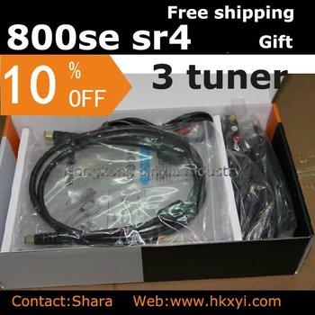 Free shipping&!!Sunray 800 Se SR4 Three tuners sim2.10 satellite TV receiver complete HD receiver   - (shara)