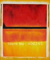 abstract oil painting,Decorative painting,Untitled (Violet, Black, Orange, Yellow on White and Red),1949 by Mark Rothko painting