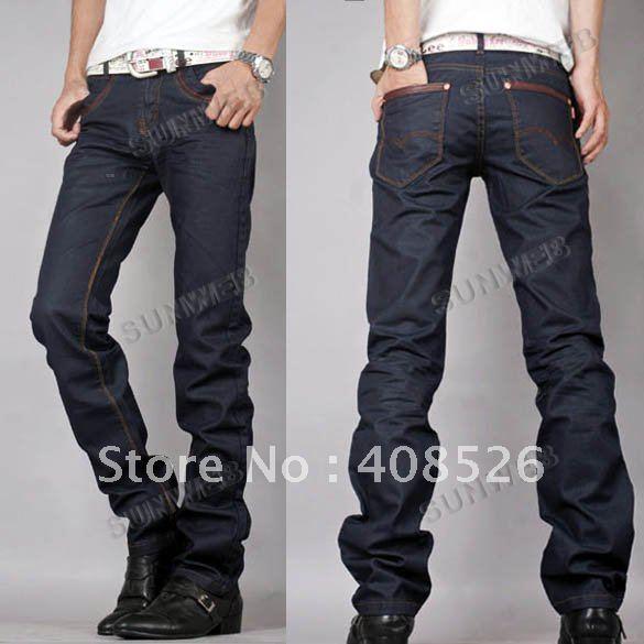 slim fit japanese classic straight denim men s jeans pants trousers. Black Bedroom Furniture Sets. Home Design Ideas