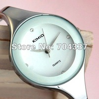 Free ship fee Cute White solid stainless steel luxury jewelry bangle women Wrist Watch Valentine's day gift Z000
