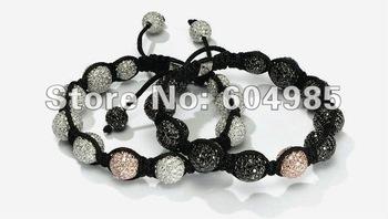 2pcs Landlord stlye Bracelets Wholesale, free shipping, New Landlord Bracelets crystal Micro Pave CZ Disco Ball Bead CPX83