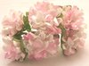 144 / lot  Pink  Mulberry Paper  Flower Bouquet/wire stem/ Scrapbooking flower Free shipping