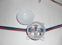 led pixel module,4pcs 5050 SMD with LPD6803IC;45mm diameter;DC12V input,20pcs a string
