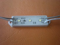 3528 SMD LED Module three pieces LED;DC12V input,20pcs a string;49mm*14mm size