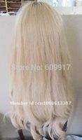 100% Human hair Jewish wig blonde straight high quality lace wig kosher wig