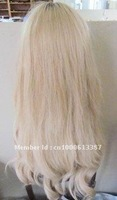100% Human hair Jewish wig blonde straight high quality lace wig kosher wig