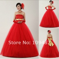 2012 A new satin folds sweeping movements placed chest high-end wedding / custom wedding