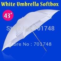 "10pcs/lot Brand New 43"" Soft White Diffuser Translucent Studio Umbrella"