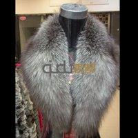 Genuine Silver Fox Fur Collar Winter Big Charm Scarf Neckwear Women's Accessories/Hot sale/Free Shipping QD5974  A G G