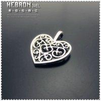 Free shipping(100pieces)Tibetan Silver Heart Pendant(3342#)