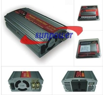 30PCS/Lot, DC 12V to AC 220V Car Power Inverter Adapter 500W with USB 5V Port, free shipping by DHL/UPS