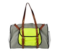 Free shipping 2013 Striped Tote Bag Oversize Buckle Detail Shopper Bags Ladies Handbag Colour Block Women Handbags TB013