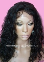 "2012new style 14""-22"" virgin indian remy  hair lace front wig top quality  free shipping"