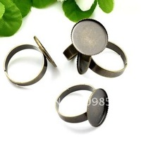 free ship!!!20mm antique brass bronze plated  ring base/lead free nickel free