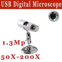 Free shipping 25X-600X USB Handheld digital microscope In-built 8pcs LED White Light