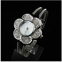 FREE SHIPPING VIA DHL/EMS Special Design Diamond Flower Shape Quartz Ladies Watch wrist watch quartz watch diamond watch