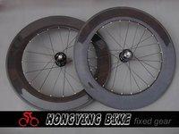 Best selling track carbon fiber bicycle wheel,carbon 88mm tubular track wheels