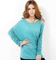2012 free shipping fashion Women's Bottoming shirt ladies sweater women's  t-shirt clothing Fashion T-shirt