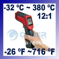 Non-Contact Laser Infrared Digital IR Thermometer -32~380 White LCD Backlight Free Shipping