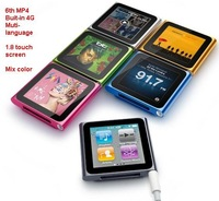 "6th 1.8"" Touch Screen mp4 player 6Gen mp3 mp4 player,4G mp4 player,Audio recorder,Digital mp4 player,Multi-lanuage,Mix Color"