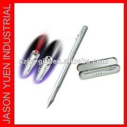 Hot selling 4 in 1 Laser pen with gift box,Metal material,ballpoint pen ,PDA,Red Laser and UV light,free shipping,MOQ:25pcs(China (Mainland))