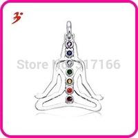 Free Shipping Multicolor Austria Crystal Buddha Pendant