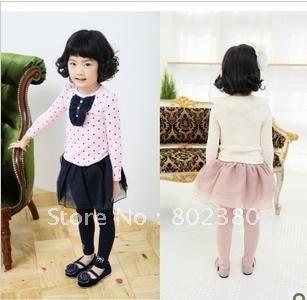 Best selling! Blue and pink  girls dress!  Children Dress! beatifull! Great Quality!  fashion culotte /pantski.