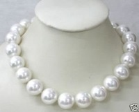 Beautiful 12MM White Southsea shell Akoya pearl necklace AAA