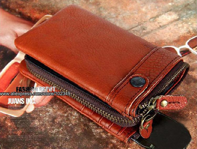 discount mens designer wallets kg0l  Free Shipping,Vintage cowhide designer men\'s Leather wallet, 100% Genuine  leather purse,detachable,YKK zipper,Brown/Black