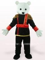 Black And White Male Teddy Bear Plush Mascot Costume