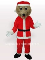 Grey Bear in Santa Outfit Adult Mascot Costume Adult Character Costume Cosplay mascot costume free shipping