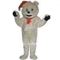 Cute Ivory Bear Short Plush Adult Animal Mascot Costume Adult Character Costume Cosplay mascot costume free shipping