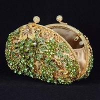 Luxurious Leaves Grape Clutch Evening Bag Handbag Purse