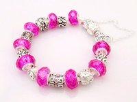 Free Shipping wholesale 925  Silver jewelry charms bracelet silver bracelet.clear crystal beads bracelet  P01