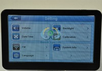 Free Map 7  inch Fingertip Touch Screen Bluetooth  Portable Car  GPS Navigatior with  4GB TF Card  Av-in FM