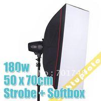 180w Photo Studio Mini Flash Kit + 50cm x 70cm Soft Box