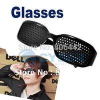 Black Unisex Eyesight Vision Improve Eyeglasses pinhole Glasses Eye Care Exercise plastic Free Shipping B19