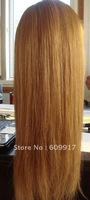 hot sale long blonde straight synthetic wig wholesale top quality wig free shipping