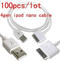 100pcs/lot Wholesale And Retail New USB Sync Data Charger Cable Cord For iPod NANO Classic Touch 4gen ipod nano cable