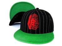 Hot style last kings hats snapback cap snap back caps hat adjustable free shipping  LK stripe green visor