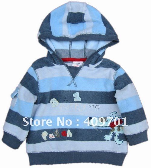 FREE SHIPPING A2049# Boys hoodies&sweatshirts with embroidery(China (Mainland))
