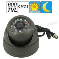 600 TVL 1/3 CMOS Video Surveillance Camera with Night Vision,Vandalproof Dome Camera with 20M IR distance