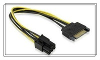 SATA Power 15Pin To 6Pin PCI-E Graphics Video Card Power Cable support MAC PRO