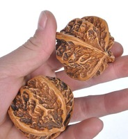 Wholesale 2pcs Pair Amazing one good mahogany carved Chinese fitness ball Handball