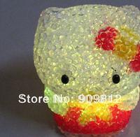 Free Shipping Hot Selling LED Colorful Gradient Night Light, Colorful Crystal KT Cat Night Light 100pcs/lot